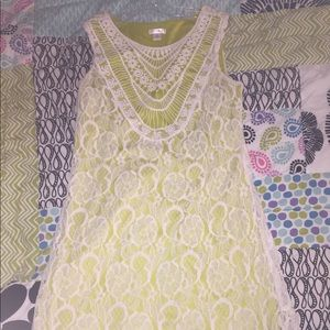 Mossimo green and white lace dress